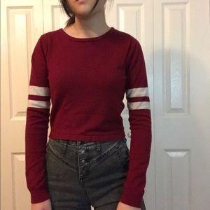 Forever 21 red long sleeve shirt w white stripes